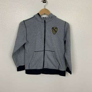 Gymboree Jacket Hoodie Boy Gray Sz: L (10-12)